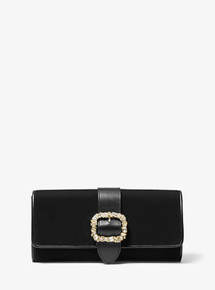 Michael Kors Jade Medium Velvet Clutch