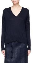 Topshop Oversized V-neck wool blend sweater