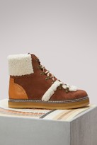 See by Chloe Hiking Boots Shearling