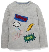Boy's Mini Boden Comic Book Applique T-Shirt