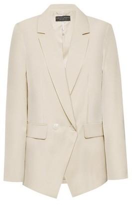 Dorothy Perkins Womens Cream Shimmer Tailored Blazer Jacket