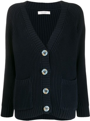 Chinti and Parker Ribbed Button-Up Cardigan