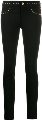 Versace stud-detail skinny trousers