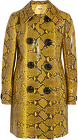 Miu Miu Glossed-python coat
