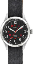 TIMEX ITALY ABT115 Waterbury stainless steel and leather watch