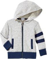 Splendid Texture Knit Zip Up Hoodie (Baby) - Grey Heather - 6-12 Months