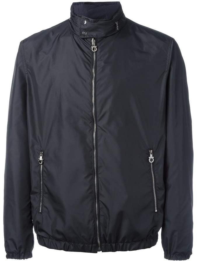 Salvatore Ferragamo band collar double-sided jacket