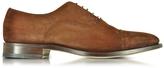 Santoni Brown Suede Oxford Shoes
