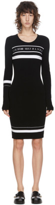 Alyx Black Knit Logo Dress