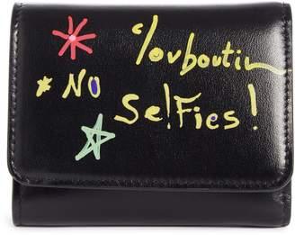Christian Louboutin Small Loubigaga Calfskin Leather Wallet