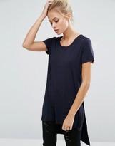 Only Jewel Long Slit T-Shirt