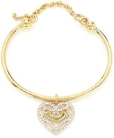 Juicy Couture Pave Open Heart Slider Bangle