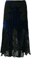 Jonathan Simkhai lace inserts pleated skirt - women - Nylon/Polyester/Spandex/Elastane/Rayon - 4