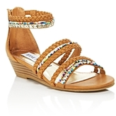 Steve Madden Girls' Strappy Wedge Sandals - Toddler, Little Kid, Big Kid
