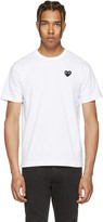 Comme des Garcons White & Black Heart Patch T-Shirt