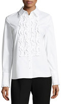 Elie Tahari Juliette Long-Sleeve Ruffled Silk Blouse