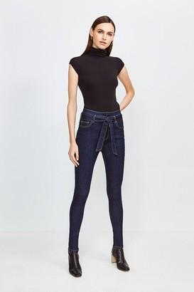 Karen Millen High Double Waistband Skinny Jean