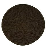 Wrapables Straw Round Placemat (set of 4) - Olive