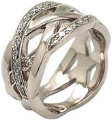 Babette Wasserman Large Silver Poison Ivy Pattern Ring - Size P
