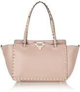 Valentino The Rockstud Small Leather Trapeze Bag - Blush