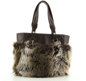Chanel Biarritz Tote Faux Fur Small