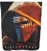 "Disney Star Wars Plush Fleece Throw Blanket Twin 46""x 60""-black"