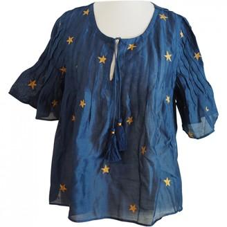 Tularosa Blue Silk Top for Women