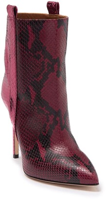 Paris Texas Metallic Snake Skin Embossed Print Ankle Boot