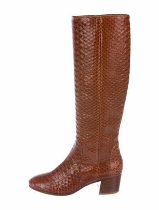 Aquatalia Darlina Python Riding Boots w/ Tags Brown