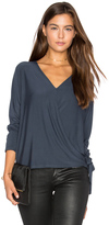 Krisa Wrap Surplice Top