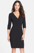 Adrianna Papell Pleated Jersey Sheath Dress (Regular & Petite)