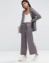Asos Premium Satin Culotte Suit Pant