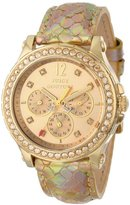 Juicy Couture Women's 1901062 Pedigree Gold Metallic Leather Strap Watch