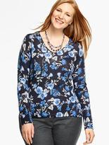 Talbots Merino Wool V-Neck Sweater - Arbor Flowers