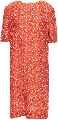 Marni Floral-print Cloque Dress
