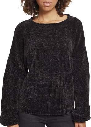 Urban Classics Urban Classic Women's Ladies Oversize Chenille Sweater Sweatshirt