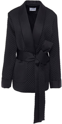 Racil Belted Quilted Satin Jacket