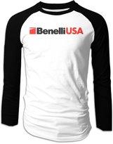 Ring Men's Benelli European Famous Motorcycle Brand Raglan Sleeve T-shirts Long