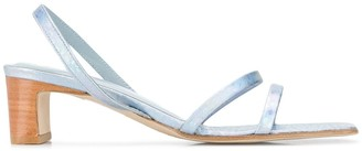 BY FAR Block-Heel Strappy Sandals