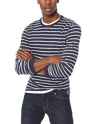 J.Crew Mercantile Men's Striped Textured Cotton T-Shirt