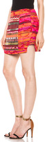 Matthew Williamson Taj Tapestry Mini Skirt in Ruby