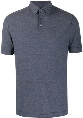 Zanone Striped Short-Sleeve Polo Shirt