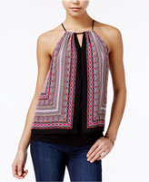 Amy Byer Juniors' Printed Layered Sleeveless Top