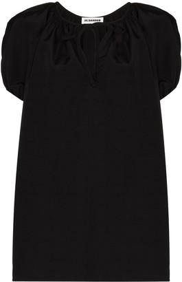 Jil Sander Ninette tie front blouse