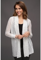 Tommy Bahama Beale Open Cardigan (White) - Apparel