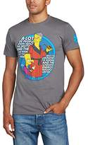 The Simpsons Men's Bart And Hefner Smoke Text Short Sleeve T-Shirt