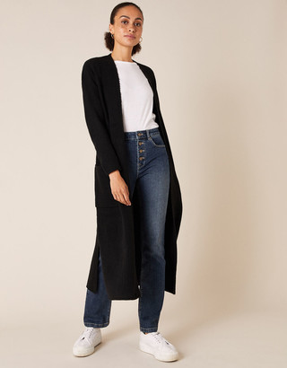 Under Armour Knit Maxi Cardigan with Recycled Fabric Black