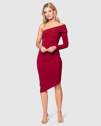 Pilgrim Women's Red Off the Shoulder Dresses - Winnie Dress - Size One Size, 6 at The Iconic