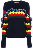 Marni ruffle trim jumper - women - Cotton/Polyamide - 40