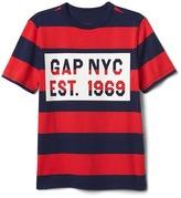 Gap Logo stripe short sleeve tee